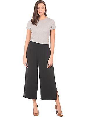 Flying Machine Women Pleated High Rise Culottes