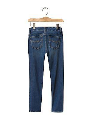 GAP Girls Blue 1969 Destructed Super Skinny Skimmer Jeans