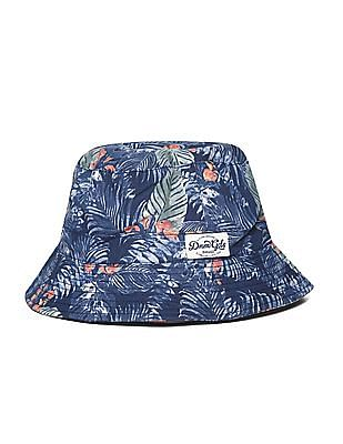 Flying Machine Tropical Print Cotton Bucket Hat