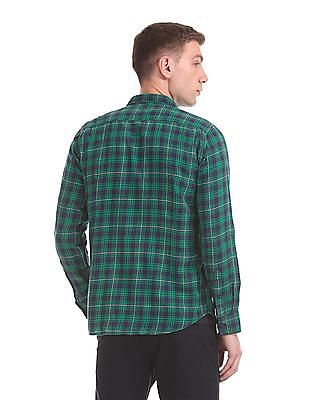 Flying Machine Button Down Collar Check Shirt
