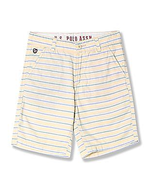 U.S. Polo Assn. Kids Boys Cotton Stripe Shorts