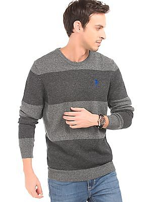 U.S. Polo Assn. Striped Slim Fit Sweater