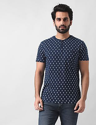 True Blue Slim Fit Henley Neck T-Shirt
