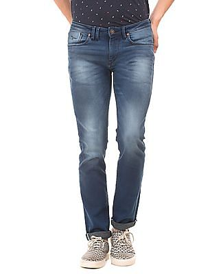 Flying Machine Stone Washed Slim Tapered Fit Jeans