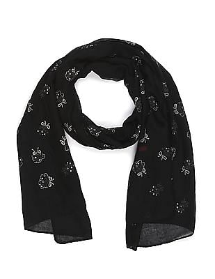 SUGR Floral Glitter Print Stole