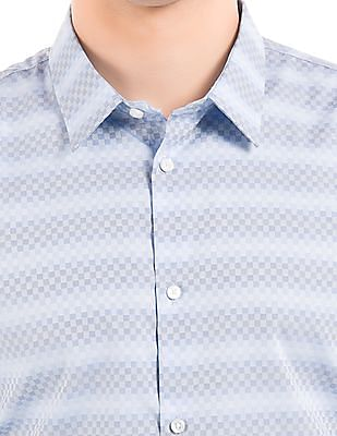 Arrow Newyork Slim Fit Checkerboard Shirt