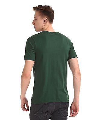 Colt Green Round Neck Graphic T-Shirt