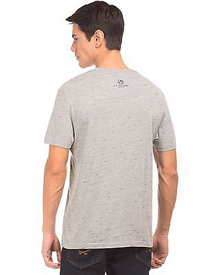 U.S. Polo Assn. Denim Co. Printed Front Round Neck T-Shirt