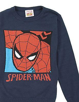 FM Boys Boys Crew Neck Spiderman Sweater