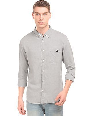 Aeropostale Patterned Button Down Shirt