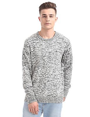 Aeropostale Regular Fit Patterned Knit Sweater