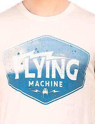Flying Machine Brand Print Slim Fit T-Shirt
