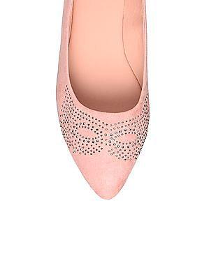 SUGR Pointed Toe Embellished Ballerinas