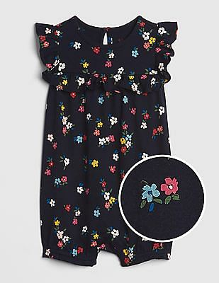 GAP Baby Floral Ruffle Shorty One-Piece