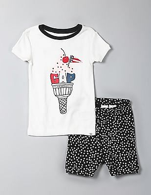 GAP Baby Americana Sundae Short Sleep Set