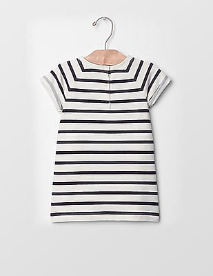 GAP Baby Lacy Stripe Sweatshirt Dress