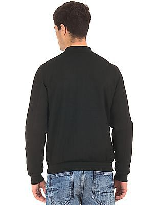 Ed Hardy Textured Knit Solid Bomber Jacket