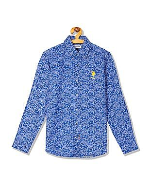 U.S. Polo Assn. Kids Boys Printed Long Sleeve Shirt
