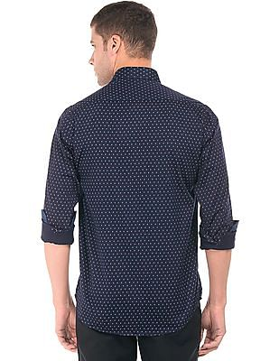 Arrow Sports Sailboat Print Regular Fit Shirt