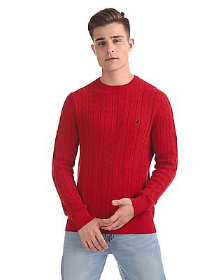 Nautica Classic Fit Patterned Sweater