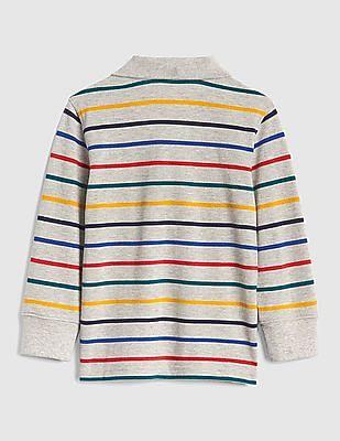 GAP Baby Crazy Stripe Long Sleeve Polo Shirt