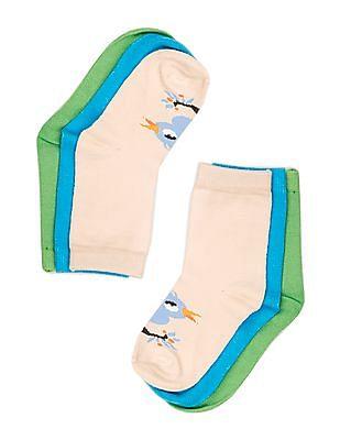 Unlimited Girls Bird Pattern Knit Socks - Pack Of 3