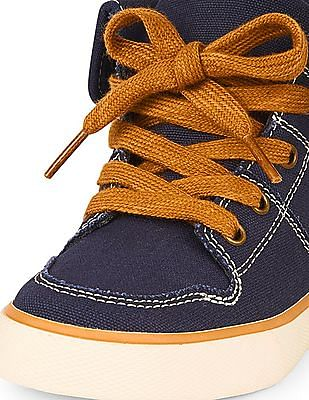 The Children's Place Boys Cuffed Mid-Top Rock Star Sneaker