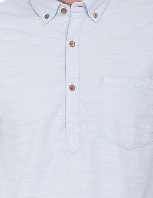 Cherokee Solid Pop-Over Shirt