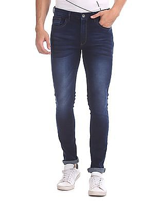 Cherokee Skinny Fit Whiskered Jeans