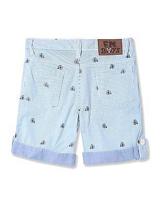 FM Boys Boys Regular Fit Printed Shorts