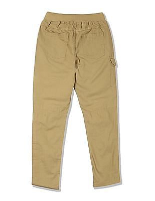 Cherokee Boys Drawstring Waist Patterned Weave Trousers