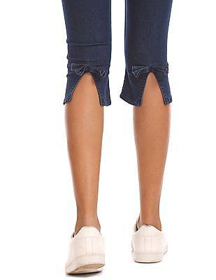 Flying Machine Women Mid Rise Capri Jeans