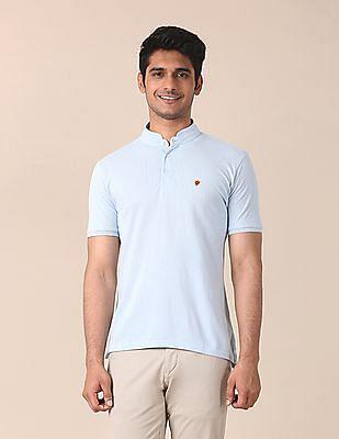 True Blue Printed Pique Polo Shirt