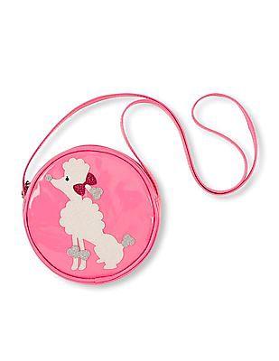 The Children's Place Girls Round Dog Appliqued Sling Bag