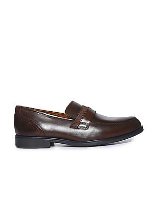 Arrow Penny Strap Leather Loafers