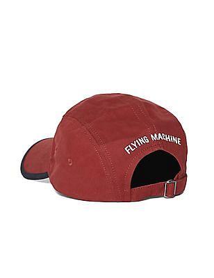Flying Machine Red Brand Print Twill Cap