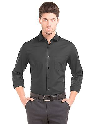 Elitus Solid French Placket Shirt