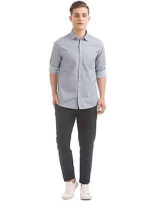 Ruggers Regular Fit Patterned Weave Shirt