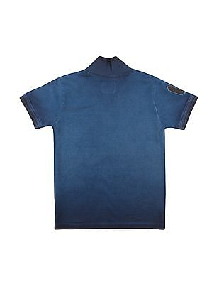 Cherokee Boys Zip Placket Washed Polo Shirt