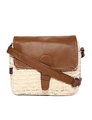 SUGR Buckle Tab Lace Sling Bag