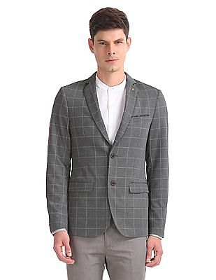 Arrow Slim Fit Checked Blazer