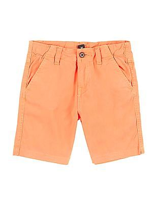Cherokee Boys Solid Cotton Twill Shorts