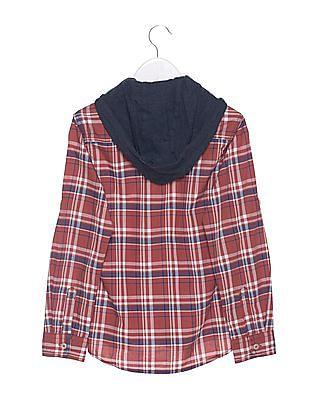 U.S. Polo Assn. Kids Boys Regular Fit Plaid Shirt
