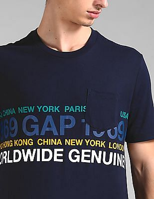 GAP Short Sleeve Worldwide Logo T-Shirt