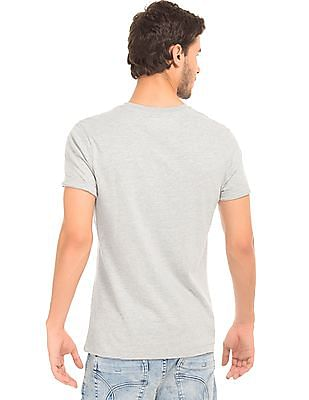 Aeropostale Heathered Regular Fit T-Shirt