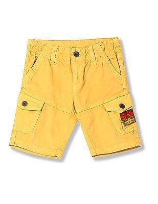 Cherokee Boys Solid Cargo Shorts