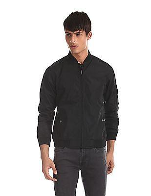 Colt Black Zip Up Bomber Jacket