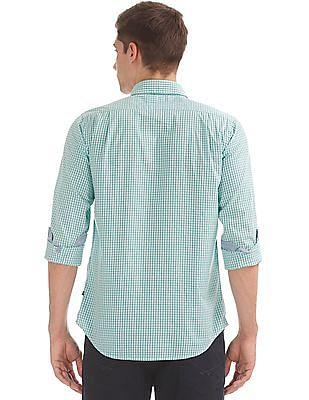 Nautica Button Down Collar Check Shirt
