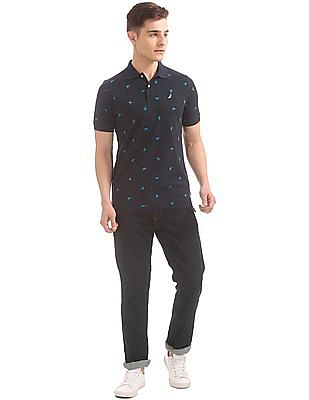 Nautica Short Sleeve Printed Marlin Polo