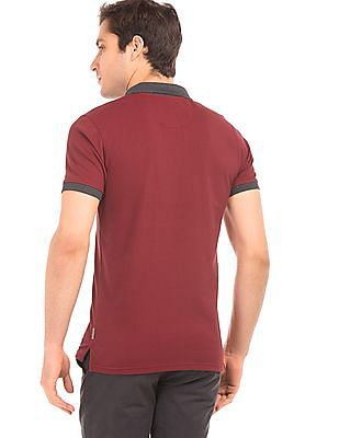 Flying Machine Solid Pique Polo Shirt